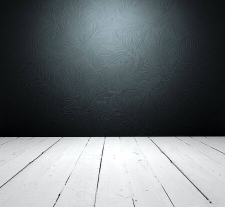 Grungy floor and floral wallpaper it is empty inter Stock Photo - 6588386