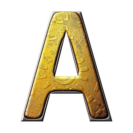 3D metal mixer letter (isolated from background) photo