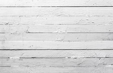 Grunge background from painted white wooden plank texture photo