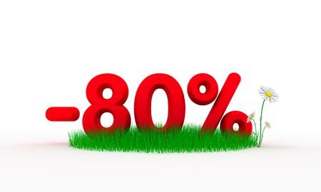 Eighty percent off photo
