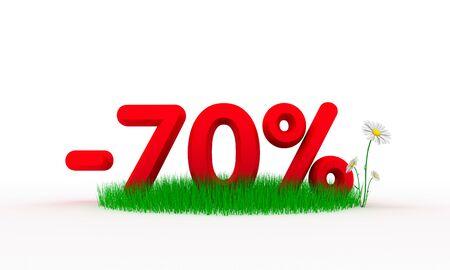 Seventy percent off photo