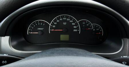 kph: Iinstrument panel of the car