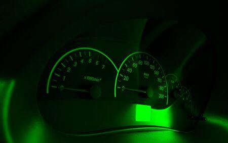 Speedometer of the car Stock Photo
