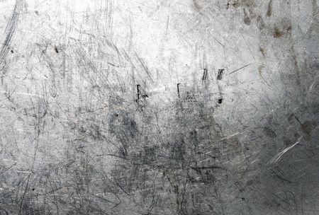 titanium: Scratched and spotted a metal aluminium sheet
