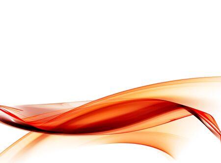 fluss: Reibungslose orange abstrakter Form. Digital generiert dieses Bild