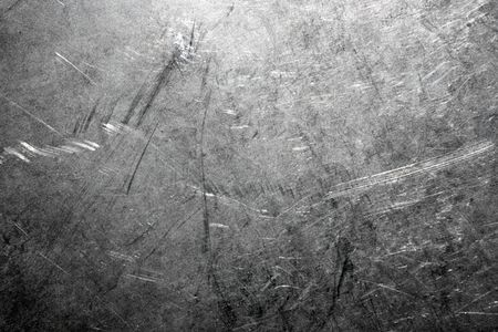 Industrial background from worn brushed metal sheet Stock Photo