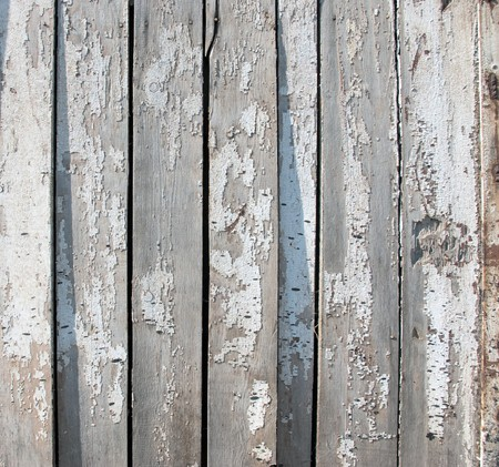 painted wood: A background of weathered white painted wood.  Stock Photo