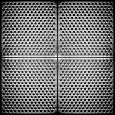 Steel dotted metal background. High detailed this image Stock Photo - 7543678