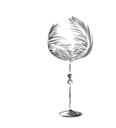 Stylized wineglass Vector