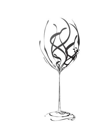 bocal: Bicchiere da vino  Vettoriali