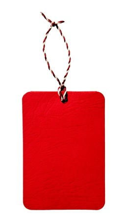 Red tag isolated Stock Photo - 7806704