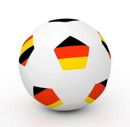 Soccer ball with the attributes of the Germany flag Stock Photo - 8093017