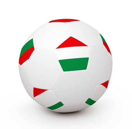Soccer ball with the attributes of the Hungary flag Stock Photo - 8093019