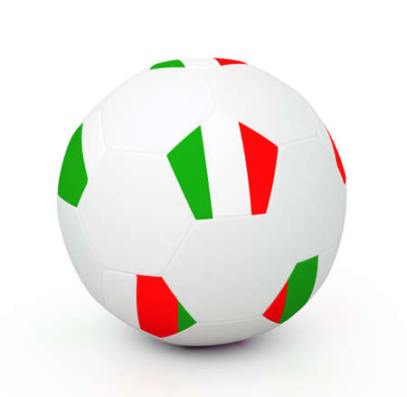 Soccer ball with the attributes of the Italy flag Stock Photo - 8120225