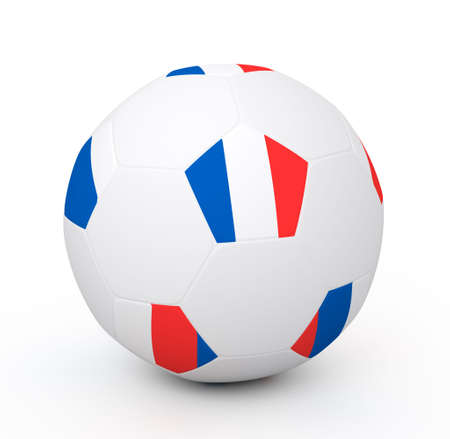 Soccer ball with the attributes of the France flag Stock Photo - 8175614