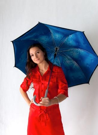 Beautiful girl with umbrella Stock Photo - 8182815