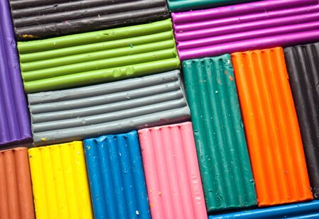 malleable: Colorful plasticine, may be used as background