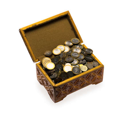 Coins in a casket photo