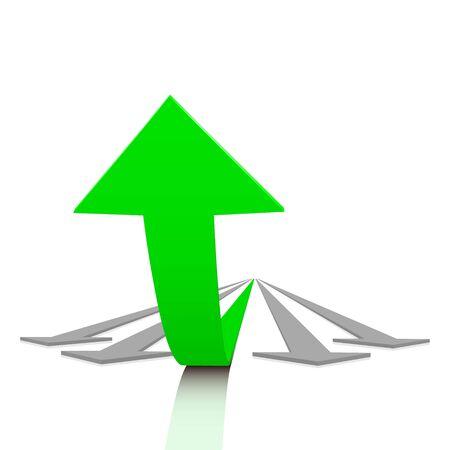 verhogen: Succes Stock Illustratie
