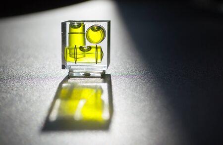 Glas niveau Stockfoto