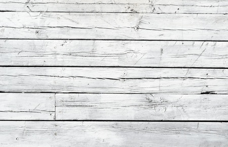 grungy wood: A background of weathered white painted wood