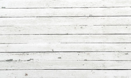 A background of closeup weathered white painted wood photo