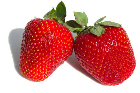 Pair beautiful ripe strawberry  photo