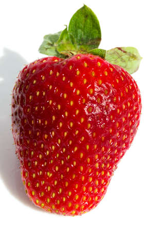 Beautiful ripe strawberry on the white isolated background photo