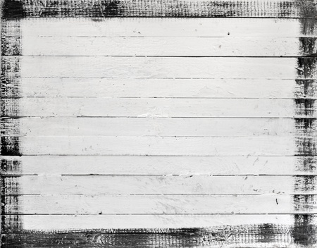 painted wood: Weathered white wood with paint frame Stock Photo