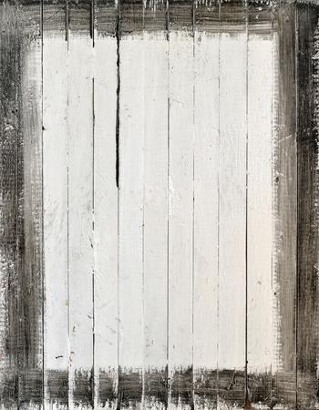 uñas pintadas: Soportó la madera blanca con marco de pintura Foto de archivo