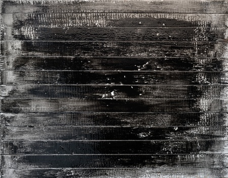 White wooden plank painted black  photo