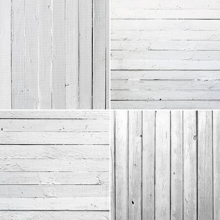 Set Weathered white wood photo