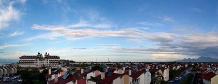 Beautiful panorama with cloudscape photo