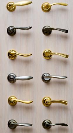 Réglez les poignées en métal Banque d'images