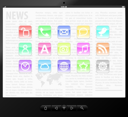 Set icons on screen Stock Vector - 11663077