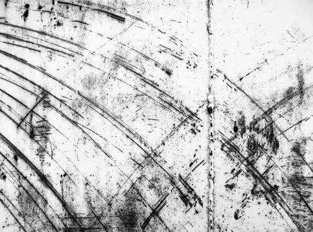 scratched metal: Black and white scratched industrial metal texture  Stock Photo