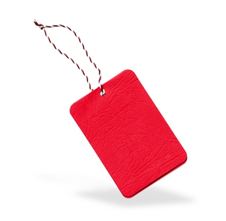 blank tag: Red label isolated
