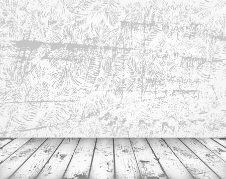 abandoned house: Gray grunge interior Illustration