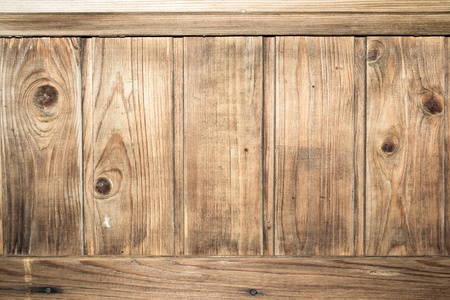 Vintage background of wooden plank. Sepia toned photo