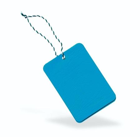 Blue label isolated photo