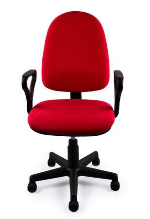 mobiliario de oficina: Silla de oficina Rojo Foto de archivo