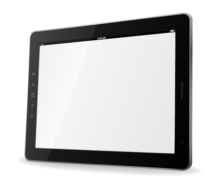 tablet: tablet computer Illustration