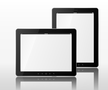 2 objects: Two tablet computers