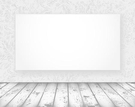 piso negro: nueva bandera de los medios de comunicaci�n en una sala antigua
