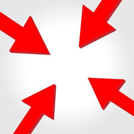 target arrow: Vector arrow to center Illustration
