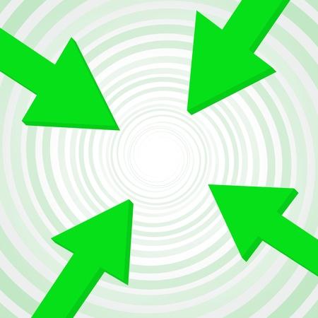 converge: arrow to center