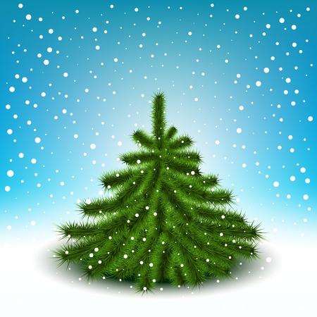Little fluffy Christmas tree Stock Vector - 12480978
