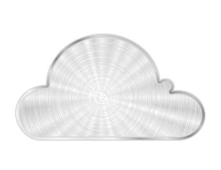 Vector cloud metal icon Stock Photo - 12540557