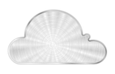 cloud metal icon Stock Vector - 12481185