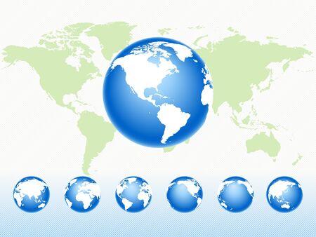 rotate icon: Set globes Illustration